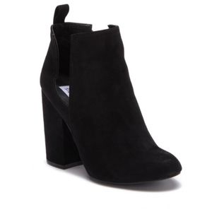 NEW Steve Madden Black Norelle Suede Ankle Boot